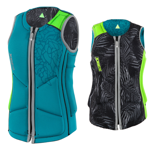 Jobe reversible comp impact shield dames lime-groen teal-blauw