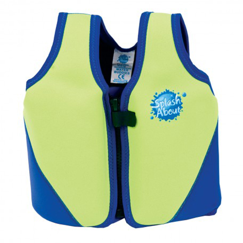 Splash About float jacket lime with blue