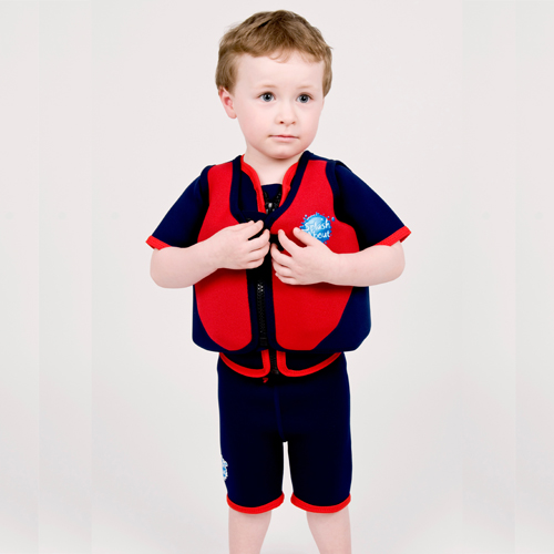Splash About float jacket red with navy