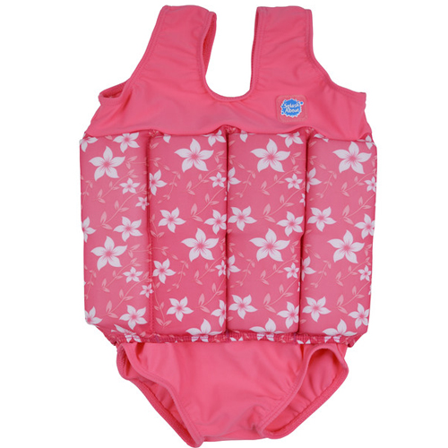 Splash About float suit pink blossom met rits